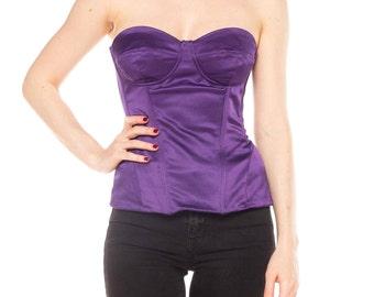 Purple Satin D&G Corset Top Size: 6