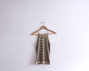 Striped Knit 90s Tank Top