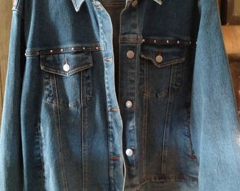 Studded Blue Jean jacket