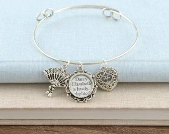 Pride and Prejudice Bracelet – Pride and Prejudice – Jane Austen – Pride and Prejudice Jewelry – Pride and Prejudice Bracelet