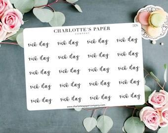 Script Planner Stickers / Sick Day Stickers / Planner Stickers / Foiled Planner Stickers / Traveler's Notebook Stickers / S1014