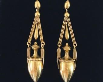 Victorian Gold Amphora Earrings