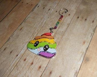 Rainbow Poop Christmas Ornament // Unicorn Poop X-Mas Ornament // Holiday Decor // Funny Emoji