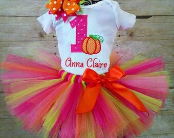 1st Birthday Pumpkin Tutu Outfit