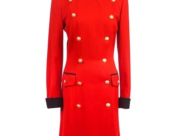 Military Coatdress by Margaretha Ley for ESCADA