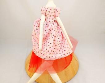 Ava  - Tilda style doll - cloth doll - 54cm tall doll - romantic doll - vintage doll - big doll