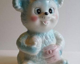 Inarco Nursery Planter - Baseball Teddy Bear- Made in Japan