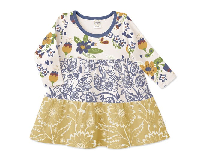 Baby Girl Dress, Baby Girl Fall Clothes, Wholesale Baby, Baby Shower Gift, TesaBabe, Tesa Babe, DR770SNWD0000