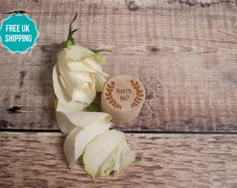 Engagement Ring Box - 'Marry Me?' Engraved ring box, proposal box, ring bearer box, wedding proposal FREE UK SHIPPING