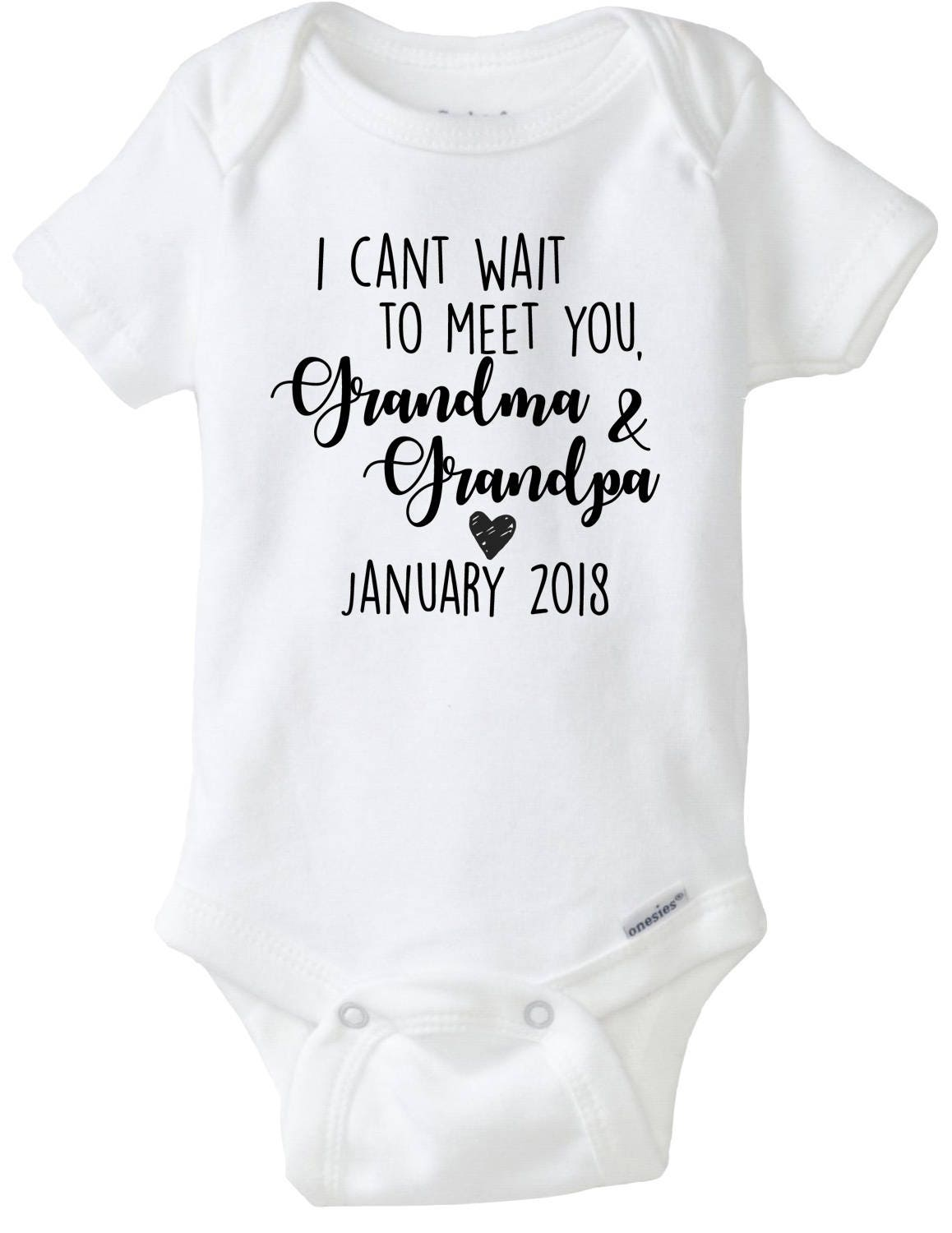 Grandparents Reveal Baby Announcement Onesies – Grandparents Announcement Baby