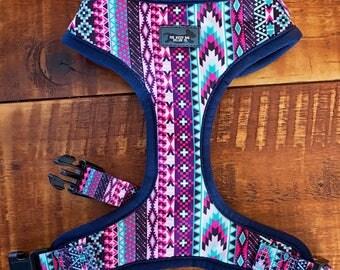 Purple Aztec Dog Harness -  Dog Harness / Dog Harness Australia /Dog Collars Australia