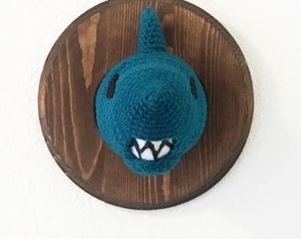 Taxidermy Shark- crochet