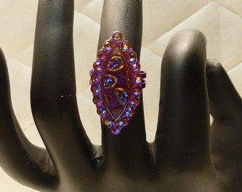 Fancy Purple Marquise Ring
