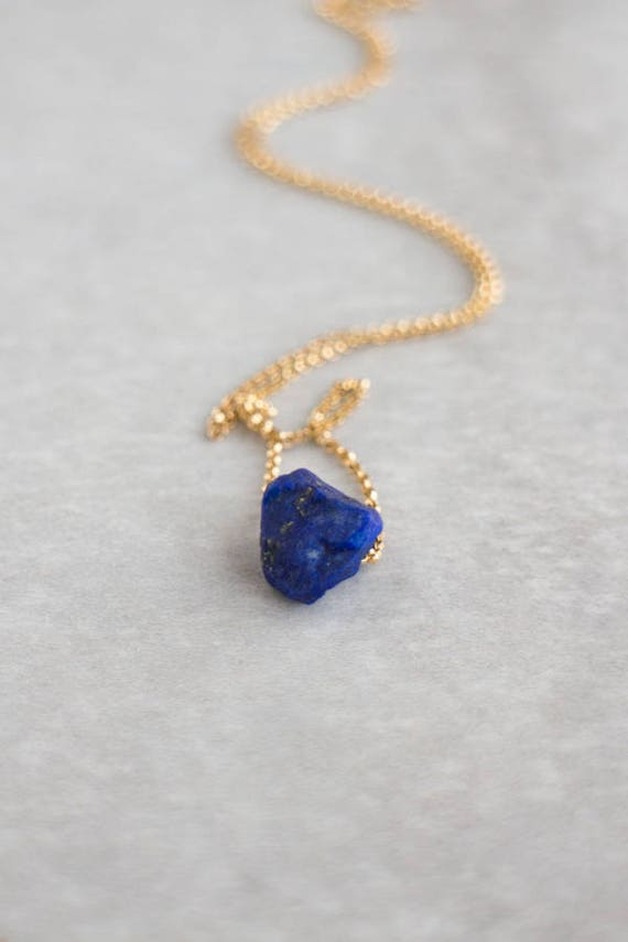 Raw Lapis Necklace