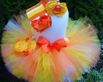 Halloween Tutu, Candy Corn Tutu, Baby Halloween Costume, Candy Corn, Fall Tutu, Halloween Costume, Baby Costume, Toddler Halloween Costume