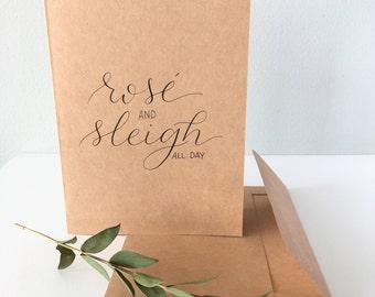 Rosé & Sleigh Christmas Card