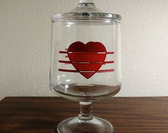 Vintage Footed Heart Candy Dish