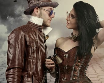 Steampunk  Busty woman