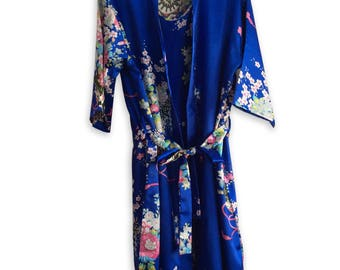 Pay 1 get 2: Set of 2 Floral Robes, Kimono Robe, Floral Satin Robe, Floral Wedding Robe, Floral Robe, Floral Wedding Robes