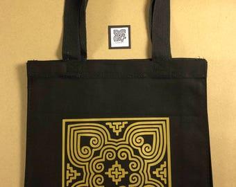 Hmong Canvas Book Bag
