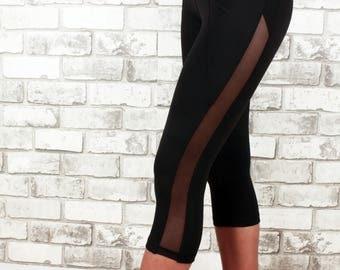 Front Pocket capri length tight fit legging - Jordyn capri