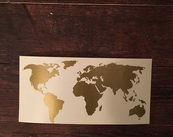 World map decal etsy world map decal map decor home decor wedding travel decor gift sciox Choice Image