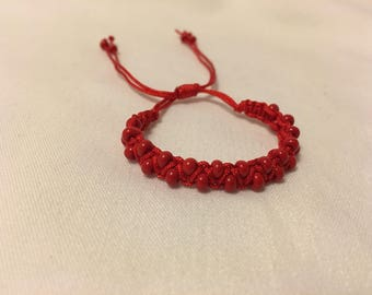 Red protection bracelet for infants
