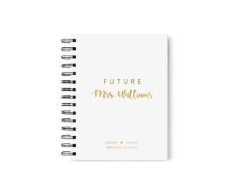 Future Mrs Wedding Planner Book Journal Personalied Bridal Shower
