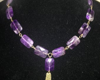 Amethyst Necklace by Dobka