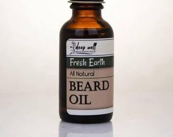 Beard Oil   Fresh Earth   Grooming Oil   For Him   Charity