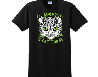 Custom Cat T-Shirt, Custom Tees, Animal Rescue, Personalized T-Shirt, Rescue Cats, Cat Lover, Custom Tees, Cat Mom, Cat Owner, Adopt A Cat
