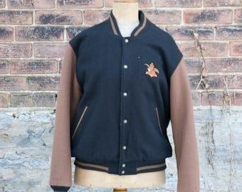 Vintage 1990s Budweiser Beer Varsity Jacket