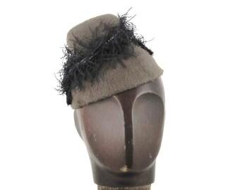 Womens Hats Black Beige Fur Felt Handmade Hat Mother of the Bride Cloche Church Derby Ascot Races Mini Art Deco Custom Made for Each Client