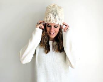 Hat Knit Beanie, Knitted Unisex Mens, Fisherman- Hartford Hat