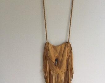 Handmade Deerskin Fringe Bag