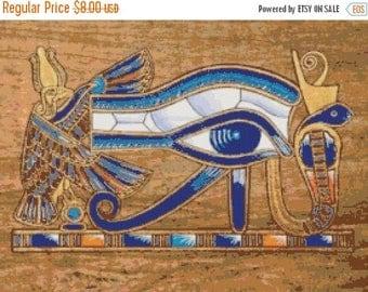 On SALE Egyptian hieroglyphs logo - 276 x 206 stitches - Cross Stitch Pattern Pdf - INSTANT Download - B835