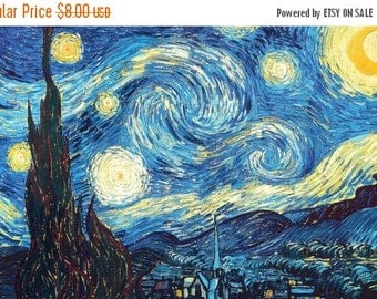The starry night  by Van Gogh Cross Stitch Pattern Pdf gogh pattern korss - 331 x 207 stitches - INSTANT Download - B387