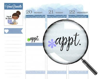 Appointment Stickers, Appointment Sticker, Reminder Stickers, Appointment Planner, Reminder Stickers, Appt. Stickers