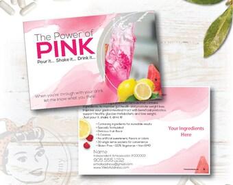 Custom Sample Postcard, New Pink Drink Sample Postcard, plex swag - Free Shipping