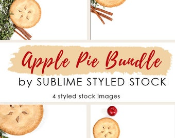 Styled Stock Photography / Bundle Stock Photos / Baking /  Apple Pie / Stock Images / Fall / Food / Cooking / Autumn / Social Media Images