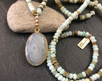 Boho Chic Peruvian Opal Necklace