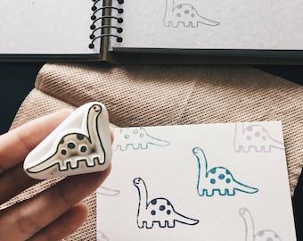 Little Dinosaur hand carved rubber stamp.kids toy.kids gift idea.dinosaur stamp.