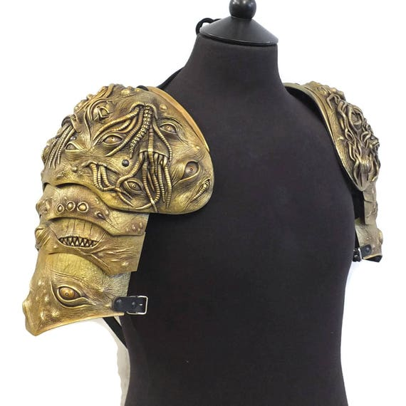 Larp Armor, Nightmare Cthulu Pauldrons, shoulder armor, cosplay armor, cosplay armour, tentacles, halloween, fantasy armor