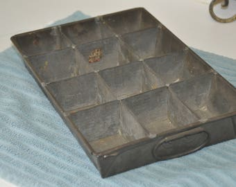Old Metal Parts Tray