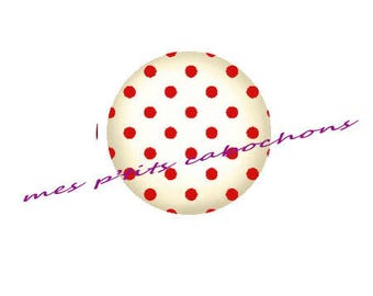 20 mm - nice Ref dots 3 glass cabochon