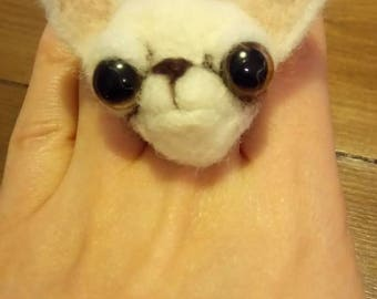 Chihuahua ring needle felted