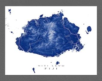 Fiji Map Etsy - World map figi