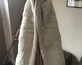 Fabulous Vintage Cream Fur Shrug Wrap