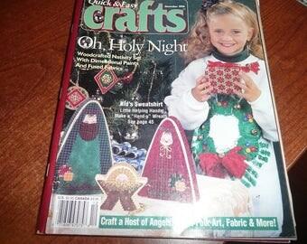 Vintage December 1996 Quick & Easy Crafts Magazine Issue