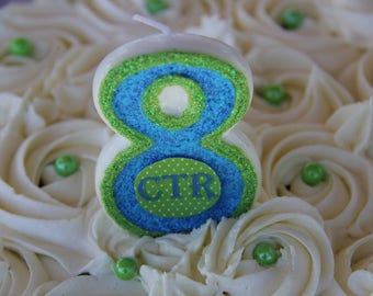 Great to be 8/ Choose the Right / Birthday Candle/ Cake topper / Keepsake /Any number